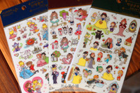 Wholesale New quality FUNNY transparent decorative Alice fairy tale princess Cinderella sticker