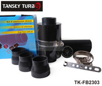 air filter kit - Tansky High Quality KRICNG Cold Feed Induction Kit Carbon Fibre Air Filter Box with fan TK FB2303