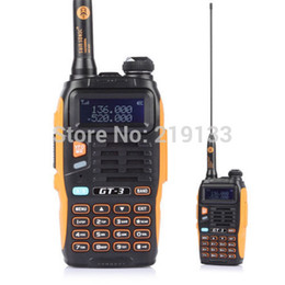 Wholesale walkie talkie baofeng gt mark II FM Radio Dual Band MHz Chipsets Upgraded ABS Frame latest version