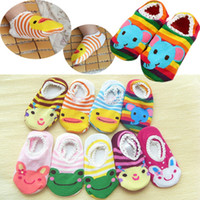 infant winter shoes - 5 Pairs Winter Colorful Cartoon Unisex Newborn Baby Socks Infant Kids Shoes For Children