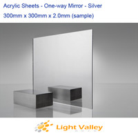 plexiglass sheets - 300mm x mm x mm Acrylic PMMA Plexiglass Sheets Silver Mirror