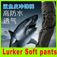 Wholesale 2014 Lurker Shark skin Soft pants camouflage pants color high quality Waterproof Windproof Sports Army pants A292L