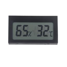 Wholesale Mini Portable Digital LCD Indoor Humidity Thermometer Hygrometer Meter Electronic New Weather Station Wireless Barometer H11671