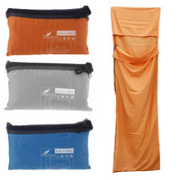 Wholesale Ultra light cm Portable Single Sleeping Bag Liner Polyester Pongee Healthy Outdoor Camping Travel Blue Orange Grey H11641