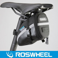 bicycle bags saddle - Roswheel Outdoor Mountain Road MTB Bicycle Bike Seat Saddle Seatpost Bag Pouch Rear Cycling Tail Package Black H11817