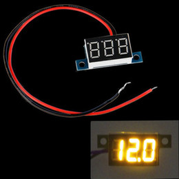 Wholesale Mini Wires DC V LED Panel Digital Display Voltage Meter Voltmeter Yellow Green Red Blue Light H11672