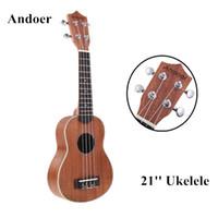 Wholesale Ukelele Ukulele Soprano Mahogany Body Aquila Rosewood Fretboard Bridge Stringed Instrument Andoer Ukelele Top Quality I336