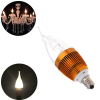 Wholesale 85 V E14 W LED Bulb Chandelier Candelabra Candle Light Lamp High Power Warm White led lamps lighting H11277