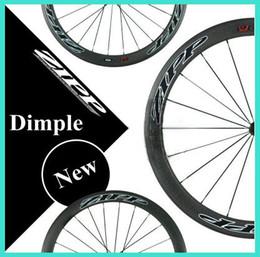 Wholesale Latest style z ipp dimple surface carbon wheels black carbon clincher bike wheels mm C carbon wheels and rims wheel