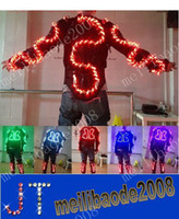 Wholesale Dragon LED light clothing colorful stage costumes dance clothes color LED lights MYY9686
