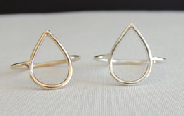 Wholesale MIN pc Raindrop Goldfilled Ring Pear shaped Drop Ring Geometric style Ring Gold Ring JZ044