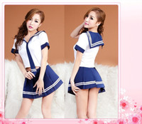 Wholesale Royal Academy School Uniform Costumes Cute Fantasy Crop Top Skirt Cosplay Student Dress Costume Sexy Lingerie sw200