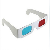 Cheap Wholesale-2014 Hot Items! Paper 3D Glasses View Anaglyph Red Cyan Red Blue 3d Glass gms147-1pc