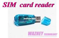 Wholesale 100 batch USB Mobile Card Reader GSM CDMA mobile phone SMS backup SIM card reader writer clone Backup Kit
