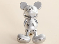 Silver drawer knobs - Fashion Silver Cartoon Mickey Mouse Pulls Furniture Kids Drawer Knobs and Handles for Kitchen Cabinet Dresser