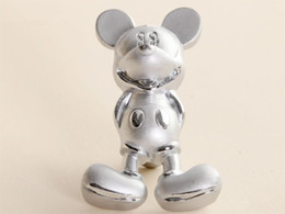 Wholesale Fashion Silver Cartoon Mickey Mouse Pulls Furniture Kids Drawer Knobs and Handles for Kitchen Cabinet Dresser