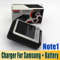 Wholesale New Wall Home Dock USB charger for Samsung Galaxy Note and battery mah for samsung galaxy note set DHL Free Factory Price churchill