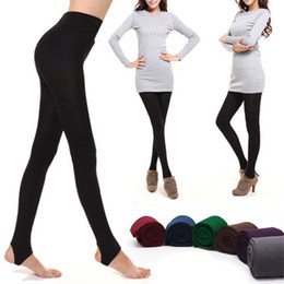 Comfort Stretch Seamless Stirrup Slim Sexy Thick Women Ladies Leggings Pants