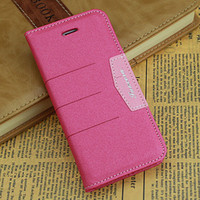 Cheap leather PU wallet auto adsorb case cover with holder fuction For iPhone 5 5S mobile phone Accessories protector bumper case cover for i5 5S