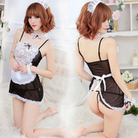 Wholesale MJ033 Sexy French Maid Costume Set Women Lingerie Cosplay Costume Erotic Bedroom Outfit Sexy Underwear