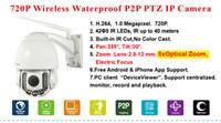 Wholesale Hot sales security cctv IP Camera ap005 IR CUT x Optical Zoom Wireless Camera Megapixel P Wifi Outdoor Pan Tilt Zoom PTZ IP Cameras