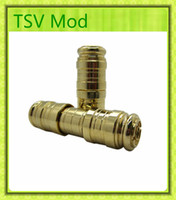 used tv - TVS mechanical mod E cigarette starter kit golden battery body Use battery fit for all EGO thread atomizer quality guarantee