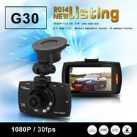 Wholesale G30 Car DVR NTK96650 G30 Full HD car DVR Support G Sensor fps AR0330 Sensor Night Vision Degree Angle Lens Dropshipping