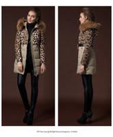 winter jackets for women - 2015 new fashion Raccoon Fur Collar Duck r down jacket Women s leopard print coat Medium long Jacket for winter coat Y258