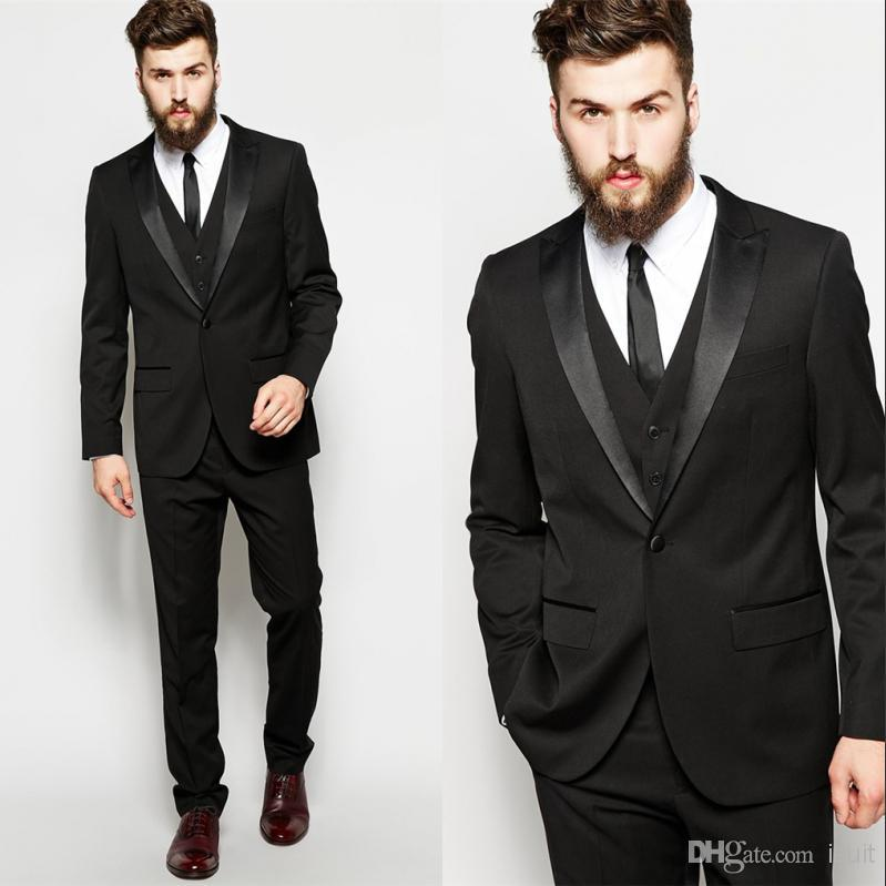 Blazers for Mens Black Suits Custom Made Fashion Wedding Morning ...