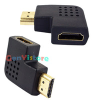 Wholesale 90 degree Left angle HDMI cable Extend Adapter Converter HDMI Male To Female Connector Coupler HDTV