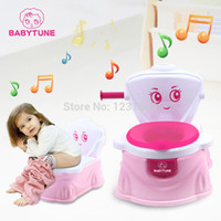 Wholesale 2014 character kid baby toilet new design child children folding portable to carry potty chair with music Plastic stinkpot