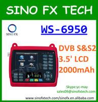 digital satellite receiver tv receiver - Free DHL Satlink WS6950 commercial tv siginal receiver trimax digital satellite finder meter