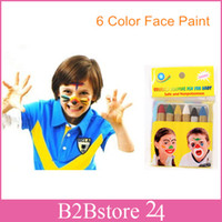 Wholesale 6 Color Halloween Face Paint Kids Face Body Paint Crayons for Makeup Party Sports