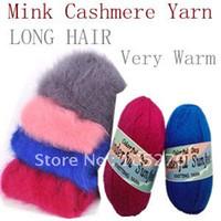 Cheap Free shipping Long Hair Mink Cashmere Yarn Hand Knitting Yarn wholesale retail