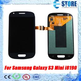 2016 écran tactile pour samsung Haute qualité! Pour Samsung Galaxy S3 mini i8190 LCD Display + écran tactile Digitizer Assemblée Livraison gratuite, wu budget écran tactile pour samsung