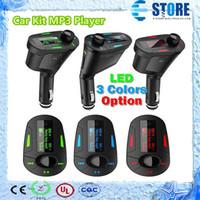 Wholesale 2014 Newest Car Kit MP3 Player Remote Wireless FM Transmitter Modulator USB SD MMC LCD Free DHL