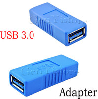 Wholesale USB A USB Female to Female Extension Adapter converter Connector F F AF To AF High Speed