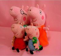 Wholesale 4pcs kids children girls cm Plush George Peppa Pig Family Toys Keychina cm Daddy Mummy Pig Stuffed pig Peppa Familia set