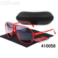 Wholesale New Promotion fashion CA brand womens mens black sunglasses with box and Glasses clean cloth low price