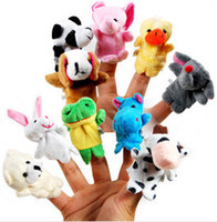 Cheap (10pcs set) Different Animals Dolls Finger Puppets Cute Cartoon Toys for Kids Children Tell Story Learning & Education Baby Gift