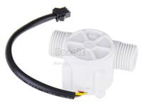 Wholesale 10pcs New White Water Flow Sensor Is Water Heater Flowmeter Flow Sensor Meter Hall Sensor