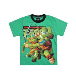 Wholesale Cartoon Shirts For Girls - Mixed 3colours Baby T-shirts Ninja Turtles Cartoon Cotton Short Sleeve T-shirts For Boy Girl