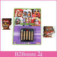 Wholesale 5 Color Face Body Paint Push Up Crayons Party Halloween Non toxic Kids Halloween Party Body Paint