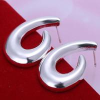 Wholesale E159 silver earrings sterling silver fashion jewelry earrings beautiful earrings high quality Fish Hook Earrings