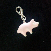 Charms Traditional Charm Animals Metal Zinc Alloy Enamel Pink Pig Charms Pendants Thomas Charm With Lobster Clasp