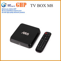 Wholesale Original M8 Quad Core Android Smart TV Box Amlogic S802 GB GB Mali GPU G G Dual Wifi HDMI Bluetooth K D Movie KitKat XBMC