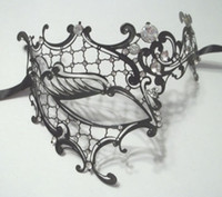 masquerade masks laser cut - Metal Party Mask Metal Filigree Laser Cut Masquerade Mask Diamante Half Face Metal Mask