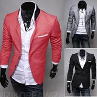 Wholesale 2016 Autumn New Men Blazer Slim Fit Suits For Men Fashion Style Top Design Suit Retail Dropshiping