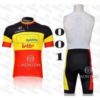 Wholesale 2014 Lotto Cycling Jersey Sets Mountain Bicycle Jerseys and Bib Padded Cycling Shorts Top Quality Men Women Cycling Jerseys Wear