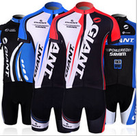 Wholesale 2014 Hot sale Giant Team cycling clothing Short Sleeve Bodysuit Cycling Jersey Sets Lover Outdoor Wear